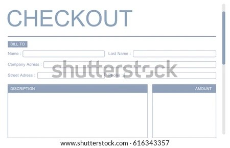 Payment Payslip Invoice Template Concept Stock Illustration