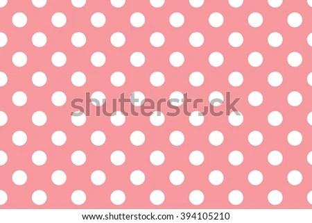 Royalty Free Stock Illustration of Pink Polka Dot Background White