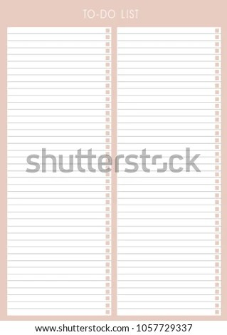 Royalty Free Stock Illustration of Planner Template Detailed Plan
