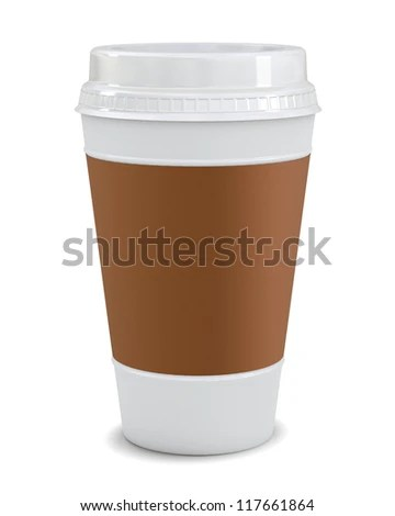 Plastic Coffee Cup Templates Over White Stock Illustration 117661864