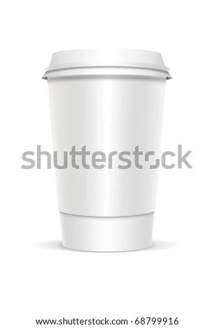 Plastic Coffee Cup Templates Over White Stock Illustration 68799916