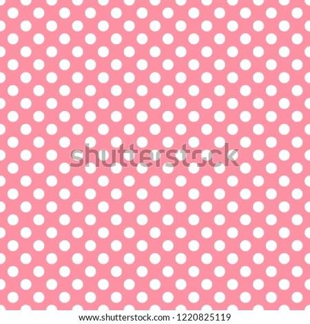 Polka Dot Salmon Pink Digital Paper Stock Illustration 1220825119
