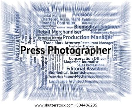 Press Photographer Indicating Copy Editor Jobs Stock Illustration