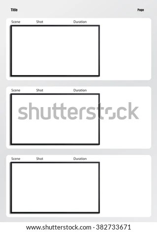 Professional Film Storyboard Template Easy Present Stock