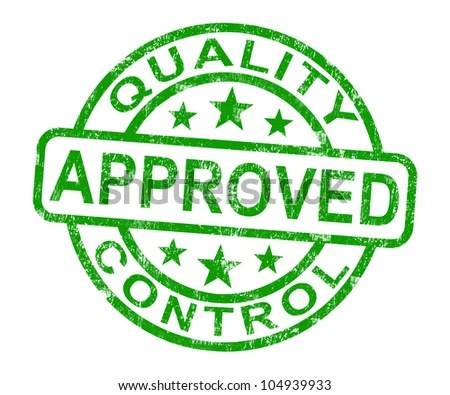 Royalty Free Stock Illustration of Quality Control Approved Stamp