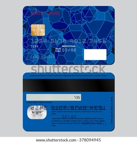 Realistic Detailed Credit Card On Both Stock Illustration 378094945