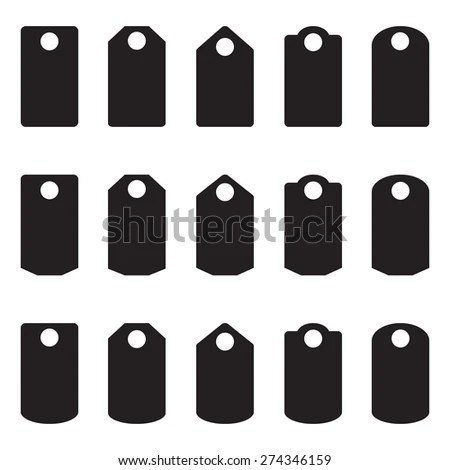 Sale Blank Labels Template Price Tags Stock Illustration 274346159
