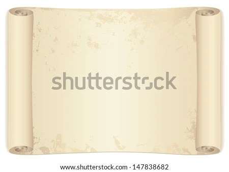 Scroll Old Parchment Paper Design Old Stock Illustration 147838682