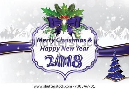 Seasons Greetings Card Winter Holidays Business Stock Illustration