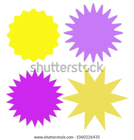 Set Multicolor Blank Labels Various Shape Stock Illustration