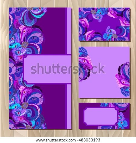 Set Violet Printable Backgrounds Celebrate Wedding Stock