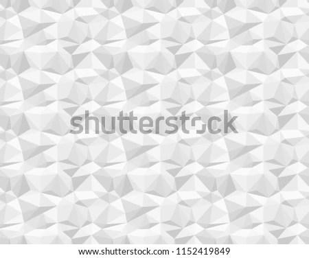 Silver On White Geometric Facet Pattern Stock Illustration
