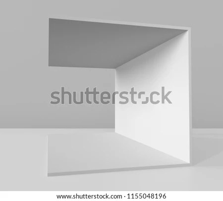 Simple Walls Event Booth Template 3 D Stock Illustration - Royalty
