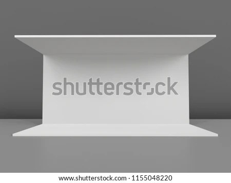 Simple Walls Event Booth Template 3 D Stock Illustration 1155048220