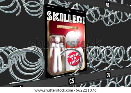 Royalty Free Stock Illustration of Skilled Employee Hard Find Job