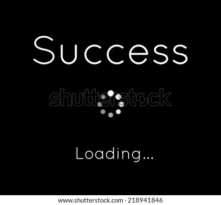 Success Loading Inspirational Poster Stock Illustration 218941846