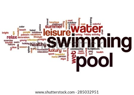 Swimming Pool Word Cloud Stock Illustration - Royalty Free Stock