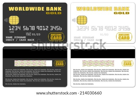 Templates Blank Credit Cards Stock Illustration - Royalty Free Stock
