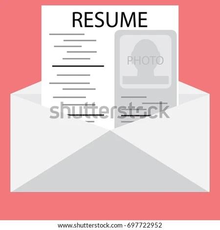 Templates Resume Envelope Invite Job Interview Stock Illustration