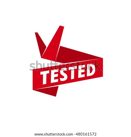 Tested Red Ribbon Banner Template Web Stock Illustration 480161572