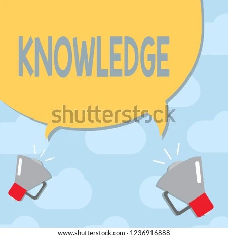 Text Sign Showing Knowledge Conceptual Photo Stock Illustration