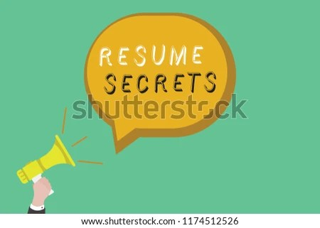 Text Sign Showing Resume Secrets Conceptual Stock Illustration