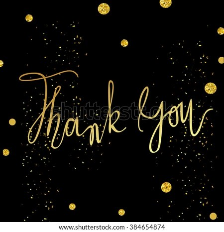 Thank You Card Template Tony Classic Stock Illustration 384654874
