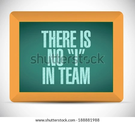 Royalty Free Stock Illustration of There No Team Message