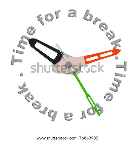 Time Break Lunch Break Coffee Break Stock Illustration - Royalty