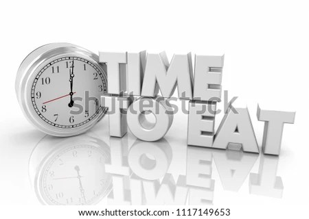 Time Eat Dinner Lunch Break Clock Stock Illustration - Royalty Free