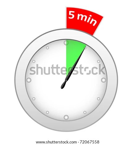 Timer 5 Minutes Stock Illustration 72067558 - Shutterstock