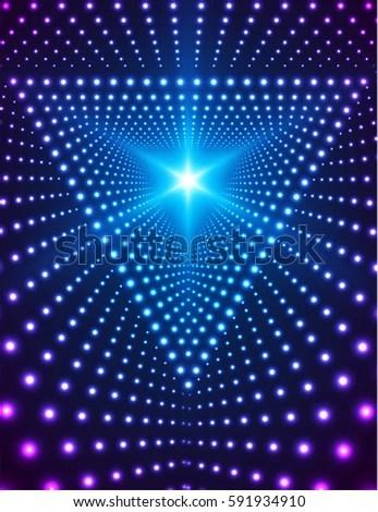Royalty Free Stock Illustration of Triangle Grid Lights Light