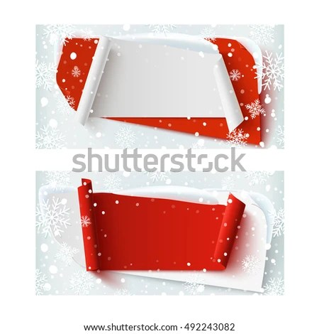 Two Blank Christmas Time Winter Gift Stock Illustration 492243082
