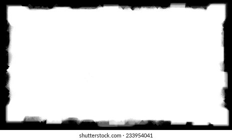 Royalty Free Stock Illustration of Unique Black Border On White