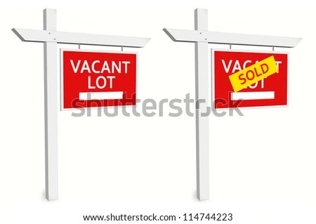 Royalty Free Stock Illustration of Vacant Sale Sign Sold Sign