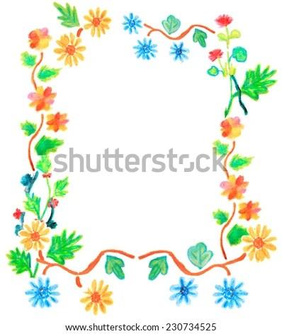 Valentine Flower Boarder Stock Illustration 230734525 - Shutterstock