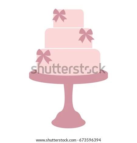 Vintage Wedding Cake Label Design Template Stock Illustration