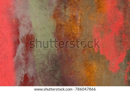 Royalty Free Stock Illustration of Wall Painting Handmade Abstract
