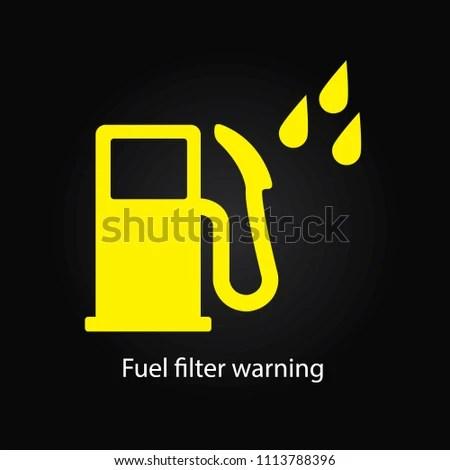 Water Fuel Filter Warning Stock Illustration 1113788396 - Shutterstock