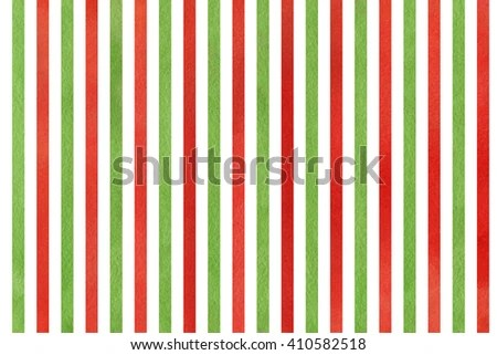Watercolor Red Green Striped Background Abstract Stock Illustration