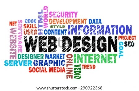 Web Design Word Cloud Concept Stock Illustration - Royalty Free