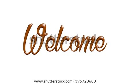 Welcome Word Chocolate On Isolated White Stock Illustration