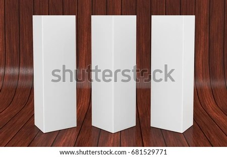 White Blank Empty Paper Trifold Table Stock Illustration 681529771