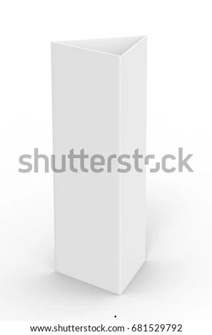 Royalty Free Stock Illustration of White Blank Empty Paper Trifold
