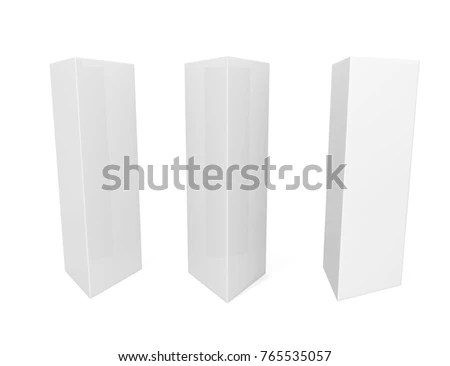 White Blank Empty Paper Trifold Table Stock Illustration - Royalty