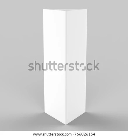 White Blank Empty Paper Trifold Table Stock Illustration 766026154