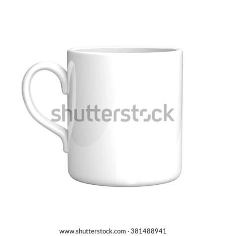 Royalty Free Stock Illustration of White Coffee Mug Isolated On