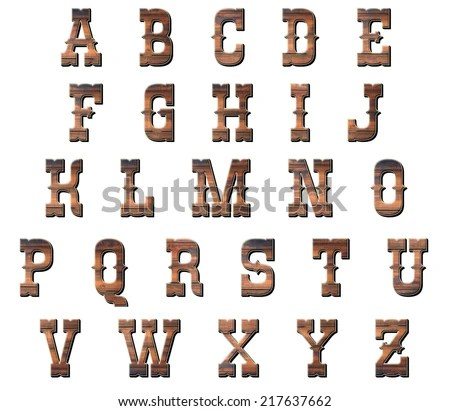 Royalty Free Stock Illustration of Wood Lettering Made Out Old Barn