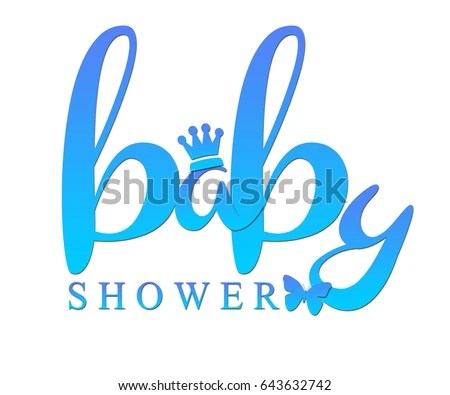 Royalty Free Stock Illustration of Word Baby Shower Written Blue