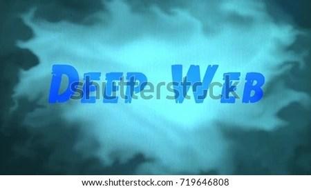 Word Deep Web On Blue Background Stock Illustration 719646808